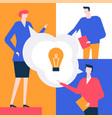 bright idea - flat design style colorful vector image
