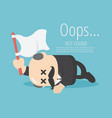 businessman boss sleep with fatigue raise the vector image vector image
