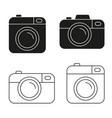 camera icon minimalistic flat design vector image vector image