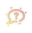 chat sms question icon design vector image