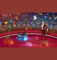 circus arena magician or animal handler vector image vector image