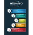 Colorful infographics or website layout template vector image vector image