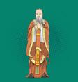 confucius vector image vector image