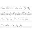 copybook alphabet vector image
