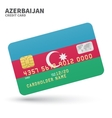Credit card with Azerbaijan flag background for vector image