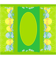 Easter festive background and egg in grass vector image vector image