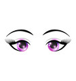 female eyes with elements of space vector image vector image