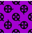Film web icon flat design Seamless pattern vector image vector image