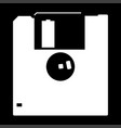 floppy disk the white color icon vector image vector image