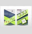 flyer design simple theme green color vector image vector image