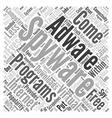 free spyware adware program Word Cloud Concept vector image vector image
