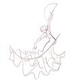 Gesture drawing flamenco dancer expressive pose vector image vector image