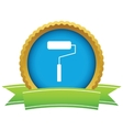 Gold roller logo vector image