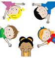 group happy children vector image vector image