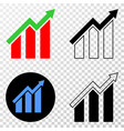 growing trend chart eps icon with contour vector image vector image
