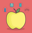 healthy and fitness lifestyle design vector image vector image