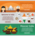 india travel banner horizontal set flat style vector image vector image