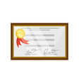 isolated diploma certificate vector image vector image
