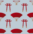 japan gate seamless pattern vector image vector image