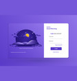 login form landing page design template concept vector image