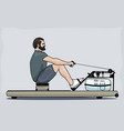 man on a rower vector image
