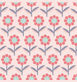 modern abstract flowers on pink background vector image vector image