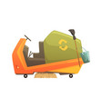 modern street sweeper truck waste processing and vector image vector image