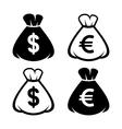 Money Bag Icon Set vector image vector image
