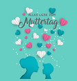 mother day german card for family holiday love vector image vector image