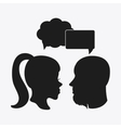 People bubble head silhouette design