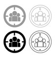 people in target or target audience icon set grey vector image vector image
