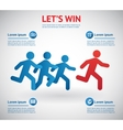 people running for leader vector image vector image