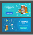 pharmacy banner horizontal set vector image vector image