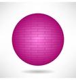 Pink Sphere vector image vector image