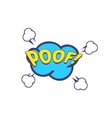 Poof Comic Speech Bubble vector image