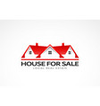 real estate red houses logo vector image vector image