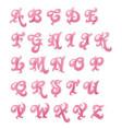 scrapbooking teenage girl abc vector image vector image