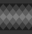 seamless black squares knitting vector image