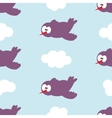 Seamless pattern with birds in clouds vector image vector image