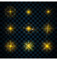 Shine gold stars glitters sparkles vector image vector image