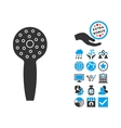 Shower Head Flat Icon With Bonus vector image vector image