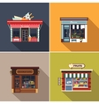 Stores and Shop Facades Cute vector image vector image