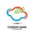 tech cloud logo image vector image vector image