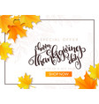 Thanksgiving sale banner with hand