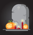 The spooky old tombstone Halloween vector image vector image