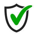 tick icon approved protection and privacy mark vector image vector image