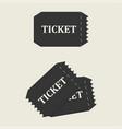 tickets set icon vector image vector image