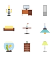 Type of furniture icons set flat style vector image vector image