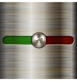 volume control on the brushed steel background vector image vector image