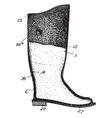 waterproof boot vintage engraving vector image vector image